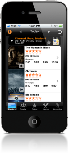 Movies by OneTap for iPhone and iPod Touch