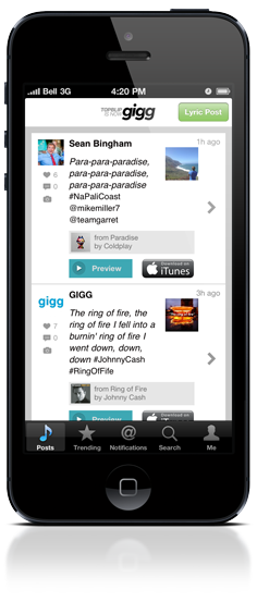 Gigg for iPhone and iPod Touch